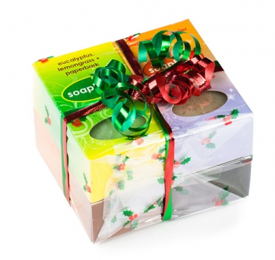 Cello Gift Pack: 4 Bar Soaps