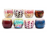 Eco-friendly Soy Wax Mosaic Candles
